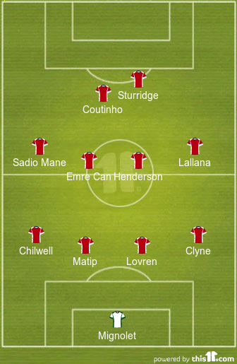 Liverpool predicted starting XI