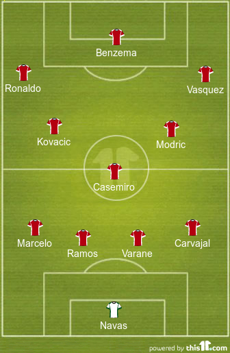 3-5-2 or 4-3-3? Real Madrid Predicted Lineup to Face Napoli in the Champions League 3