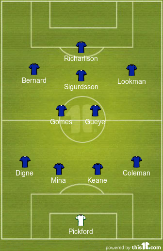 Predicted 4-2-3-1 Everton lineup to face Watford 1