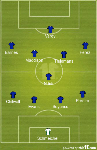 Leicester predicted line-up to face Man City