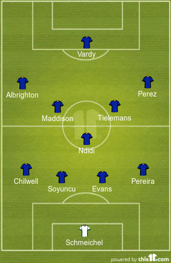 Leicester predicted line-up