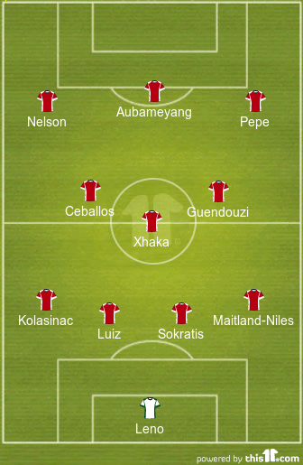 7 Changes With Start For Nelson: 4-3-3 Arsenal Predicted Lineup Vs Aston Villa 1