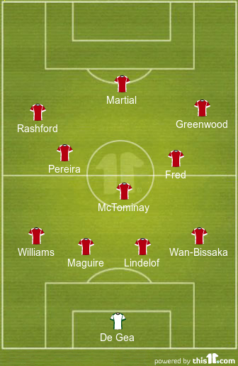 predicted manchester united lineup vs bournemouth