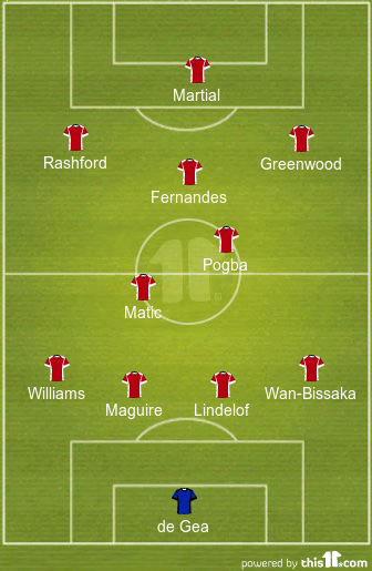 predicted manchester united lineup vs leicester city