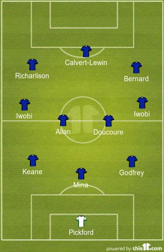 Predicted Everton Lineup vs Chelsea