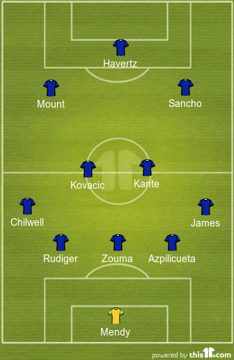 How Chelsea might line up with Jadon Sancho